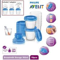 Breastmilk storage cup adaptor Penyimpan Asi 180ml