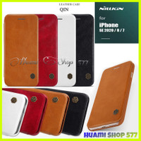 Iphone SE 2020/SE2/7/8 Original Case Qin Leather Flip Book Cover Hard