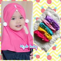 Hijab Instan Anak - Jilbab Anak Anting Pom-Pom - Kerudung Bayi Terbar
