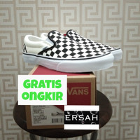 Original Vans Classic Slip on Checkerboard Black White Global Released - 43