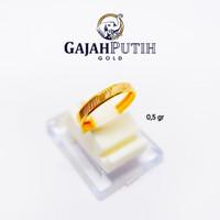 0,5 gr Cincin Emas Asli Model Bangkok Asir