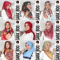 jilbab segiempat motif SARA BOO by AZARA