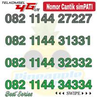 Nomor Cantik Simpati telkomsel 4G LTE seri 082 1144 xxxx