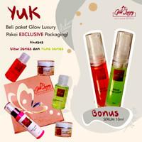 BPOM GLOW LUXURY SKINCARE ACNE whitening/ cream wajah/ pemutih