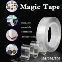 Double Tape Isolasi Selotip Nano Magic 2 Sisi Multifungsi 2mm 3cm 3 M