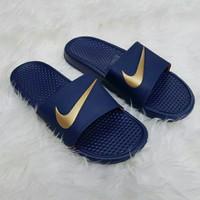 Sendal pria Nike ORIGINAL BENASSI SWOOSH Sendal karet Ori