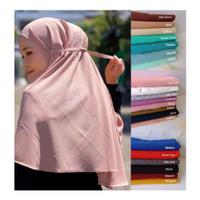 Bergo maryam diamond crepe / Hijab instan tali diamond
