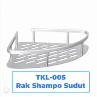 TKL- 005 Rak Sudut Kamar Mandi/Tempat Sabun Shampo Siku Corner