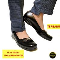 Sepatu wanita flat model terbaru nyaman diapakai sepatu wanita hitam