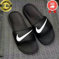 Sandal pria karet Nike ORIGINAL BENASSI SWOOSH slip on Ori