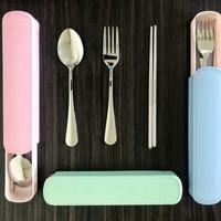 sendok garpu set stainless travel /sendok garpu sumpit set travel