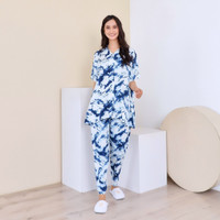 ARUNA SET BLUE ABSTRAK