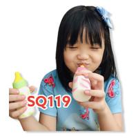 SQ119 Squishy dot mainan - toys - penghilang stress - botol susu sapi