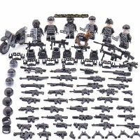 Lego City army soldier SWAT Minifigures minifigure 6 pcs set import