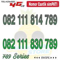 Nomor Cantik Simpati telkomsel 4G LTE seri 082 111 xxx 789