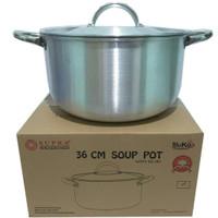 Supra Aluko Soup Pot 36cm Panci Besar Anodized Alumunium