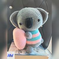 Boneka Rajut Amigurumi Koala Kado Hadiah