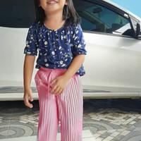 Celana anak perempuan plisket. celana kulot. ukuran 5 s.d 12 tahun