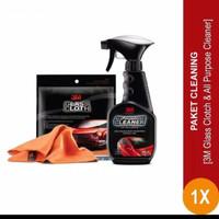 3M Paket Perawatan Mobil Lap Kaca 37804 & All Purpose Cleaner Cairan P