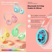 headphone bluetooth inpods macaron - headset warna