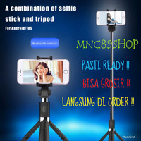 Tongsis BT Selfie Stick Remote Bluetooth Tripod Expandable