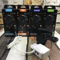 TC TRAVEL CHARGER 3,1A QUICK CHARGER BRAND 2USB TERMURAH