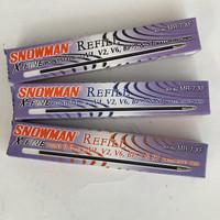 refill isi pulpen SNOWMAN 0.6mm MR-7XF