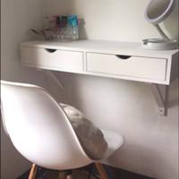 meja kantor laci minimalis gantung meja dinding