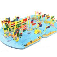 Peta dunia knowledge of the world puzzle anak murah meriah