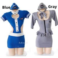 Donna Costume Suit Lingerie Cosplay Kostum Pramugari Pilot