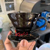V60-01 Keramik Pour over drip Coffee Manual Brewer Barista