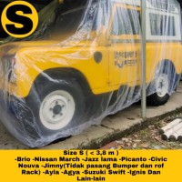 cover mobil outdoor waterproof size S dan M - Transparan, S