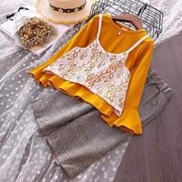 Fashion Baju Anak Setelan Celana Kulot Modis Kekinian