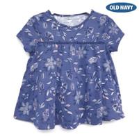Old Navy Dress Top Floral Swing Tee - Atasan Dress Old Navy Anak