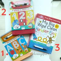 Buku tulis anak 3+ Wipe it, Write it Clean ABC 123 Pen Control Numbers