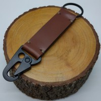 Gantungan Kunci Kulit Carabiner/Costum Nama/ Gantungan Kunci/ KeyChain