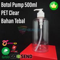 Botol Pump 500ml PET Clear Tebal
