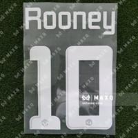[ NAMESET ] JERSEY MANCHESTER UCL 2013/2014 ROONEY