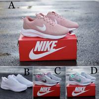 Sepatu Sport Casual Wanita Nike Air Zoom Pink White Cream Running