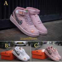 Sepatu Sneakers Wanita Nike Air Force Just Do It /Sneakers Casual Nike