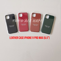 LEATHER CASE SOFT HARD COVER KULIT ORIGINAL IPHONE 11 PRO MAX TERMURAH