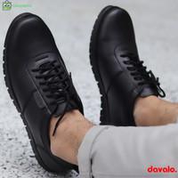 Sepatu Pantofel Casual Formal Pria like Sneakers Hitam d098 Sol Karet