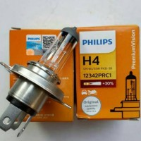 Bohlam Lampu Halogen Standar H4 PHILIPS Premium Vision 12V 60/55W