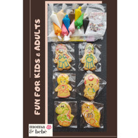 PREMIUM BUTTER COOKIES DIY DECOR KIT - HOMEMADE (isi 6)