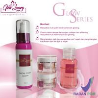 Paket glow luxury normal/cream glowing/theraskin/bumil/arbutin/htm