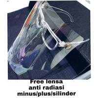 kacamata face shield paket lensa minus plus