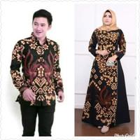 Baju gamis wanita Jumbo Ld 140 batik sarimbit kemeja panjang pria