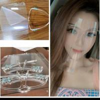 face shield medis bahan Mika (dalam include kacamata Tanpa kaca)