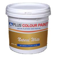 APLUS Cat Plafon Gypsum GRC & Cat Tembok Interior (Natural White) 20Kg