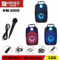 Speaker Bluetooth + mic karaoke kimiso (speaker mega bass)